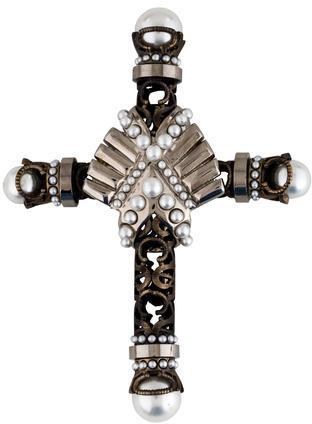 GivenchyGivenchy Embellished Cross Brooch