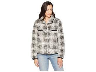 True Grit Dylan by Soft Tip Shearling Box Plaid Two-Pocket Cozy Jacket