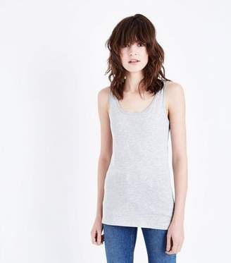 New Look Grey Marl Scoop Neck Vest
