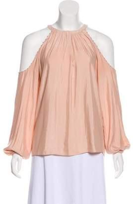 90ce3c603f1e0 Embellished Cold Shoulder Top - ShopStyle