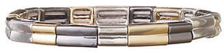 Nine West Tri-Tone Square Stretch Bracelet