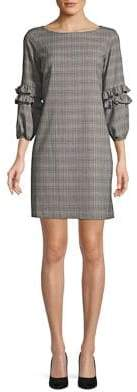 Gabby Skye Tonal Plaid Shift Dress