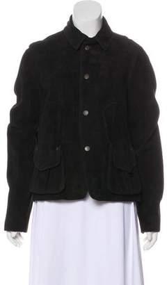Ralph Lauren Long Sleeve Suede Jacket