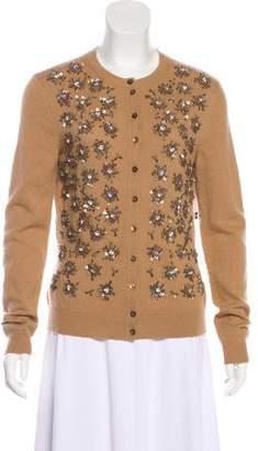 Alexander McQueen Embellished Cashmere Cardigan