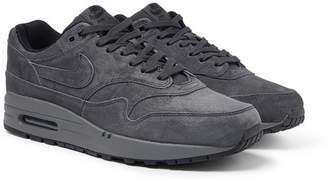 Nike Air Max 1 Premium Suede Sneakers - Charcoal