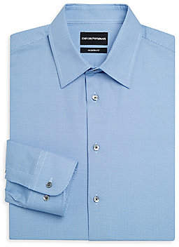 Emporio Armani Men's Modern Fit Microdot Button-Down Shirt