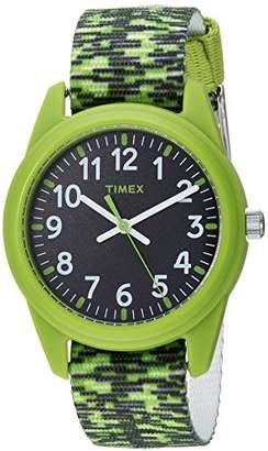 Timex Boys TW7C11900 Time Machines Elastic Fabric Strap Watch