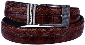 Black Croc-Embossed Leather Belt $11.25 thestylecure.com