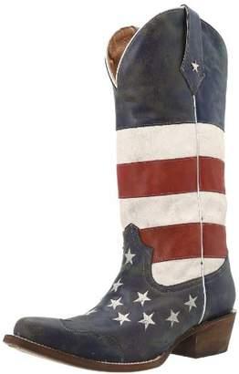 Roper Women's American Flag Snip Toe 10.5 B - Medium
