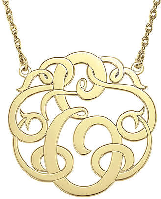 FINE JEWELRY Personalized 25mm Ribbon-Style Initial Necklace