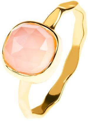 Latelita London - Stacking Ring Gold Rose Quartz