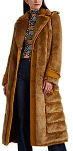 Acne Studios Women's Faux-Fur-Paneled Coat - Orange