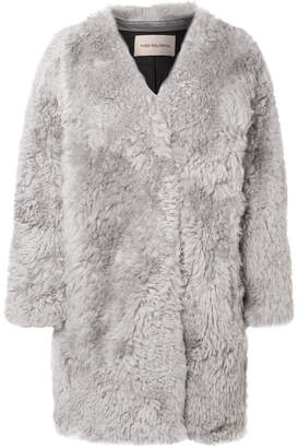 Yves Salomon Shearling Coat - Gray