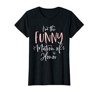 Womens Funny Matron of Honor T Shirt Matching Bachelorette Party