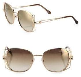 Roberto Cavalli 55MM Oversized Square Sunglasses