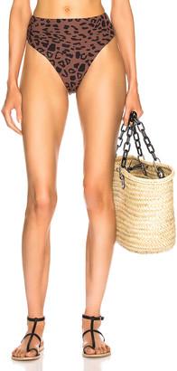 Alix Nyc ALIX NYC Alton Print Bikini Bottom in Leopard & Black   FWRD