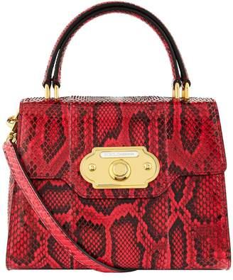 Dolce & Gabbana Welcome Python Top Handle Bag
