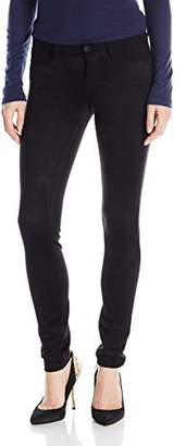 Kensie Jeans Women's Suede Front Ponte Back Skinny $92.41 thestylecure.com