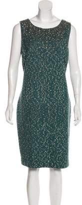 Couture St. John Tweed Midi Dress