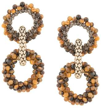 Rosantica tiger eye earrings