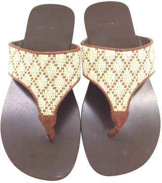 Etro Brown Leather Sandals