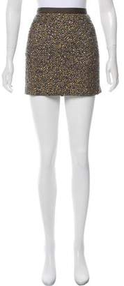 Haute Hippie Embellished Silk Mini Skirt
