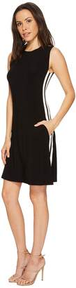 Norma Kamali KAMALIKULTURE by Side Stripe Sleeveless Swing Dress Women's Dress