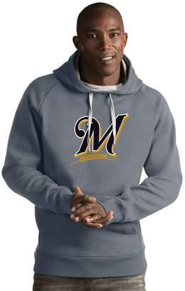 Antigua Men's Milwaukee Brewers Victory Logo Hoodie