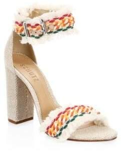 Schutz Zoola Embroidered Sandals