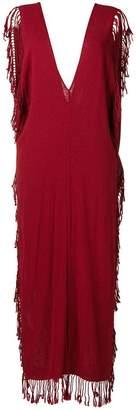 Caravana deep V neck long dress