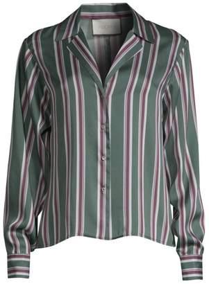 Alexis Samwell Striped Satin Button Shirt