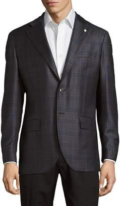 Lubiam Men's Plaid Wool Jacket