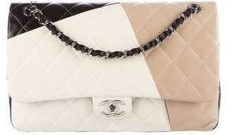 abdc2612cfed Chanel Tricolor Classic Jumbo Double Flap Bag