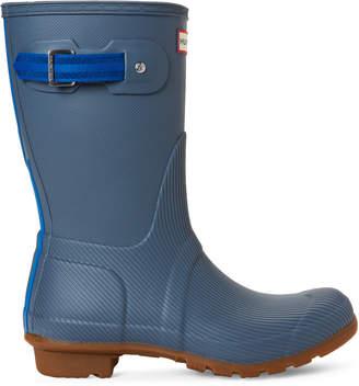 Hunter Gull Grey & Blue Original Seaton Short Rain Boots