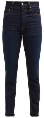 RE/DONE Double Needle Slim Leg Jeans - Womens - Dark Denim