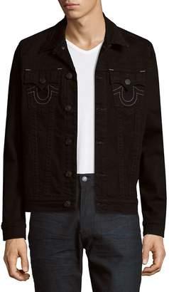 True Religion Men's Embroidered Logo Jacket