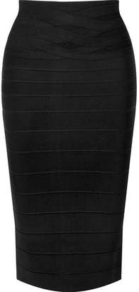 Herve Leger Bandage Pencil Skirt - Black
