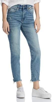 Monroe Pistola Distressed Cigarette Jeans in Asheville