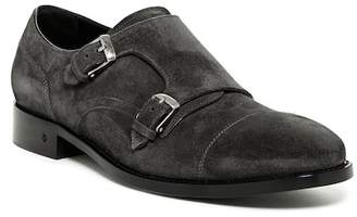 John Varvatos Collection Fleetwood Suede Double Monk Strap Loafer