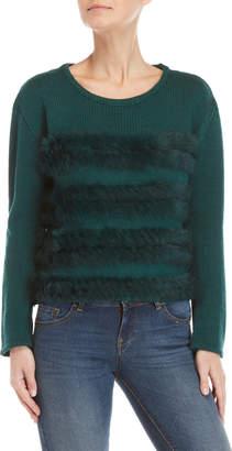 Gaudi' Gaudi Real Fur Trim Sweater