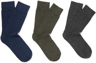 Schiesser Fred Three Pack Stretch-Cotton Socks