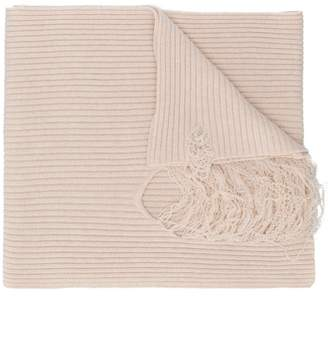 Maison Margiela laddered rib knit scarf