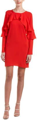 BCBGMAXAZRIA Ruffled Shift Dress