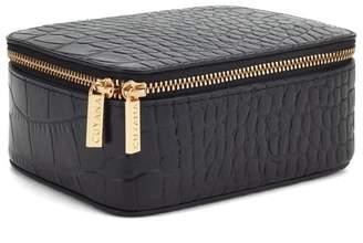 Cuyana Croc-Embossed Mini Jewelry Case