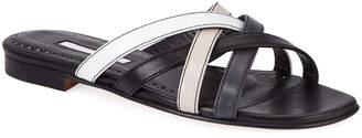 Manolo Blahnik Fetiz Strappy Flat Slide Sandals