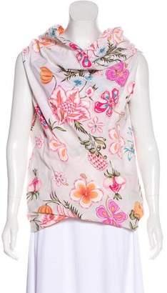 Dries Van Noten Floral Print Sleeveless Top