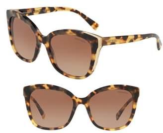Tiffany & Co. Diamond Point 55mm Gradient Square Sunglasses