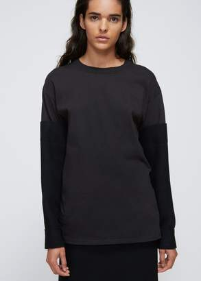 Yohji Yamamoto Woven Sleeve T-shirt