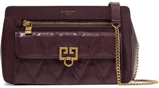 Givenchy Pocket Quilted Leather Shoulder Bag - Burgundy
