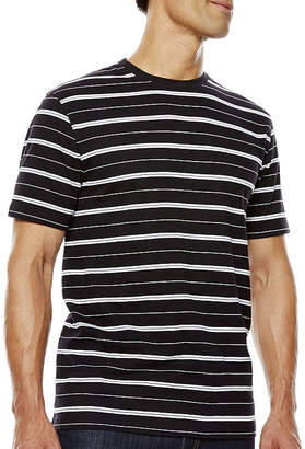 Claiborne Short-Sleeve Striped Crewneck Tee
